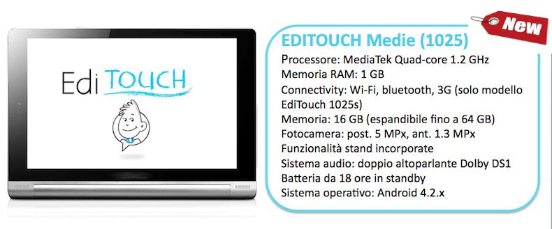 Tutti i modelli di EdiTouch: il primo tablet per l ...